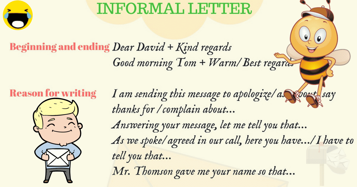 informal letter writing