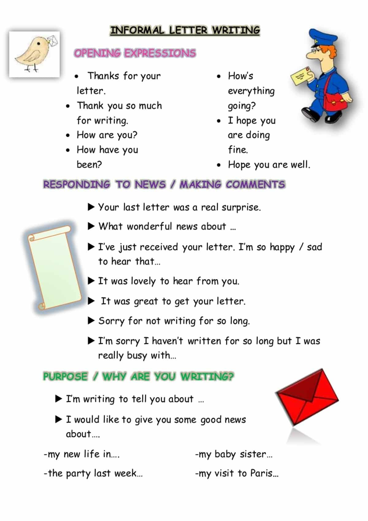 how to write informal letters in english with examples 14