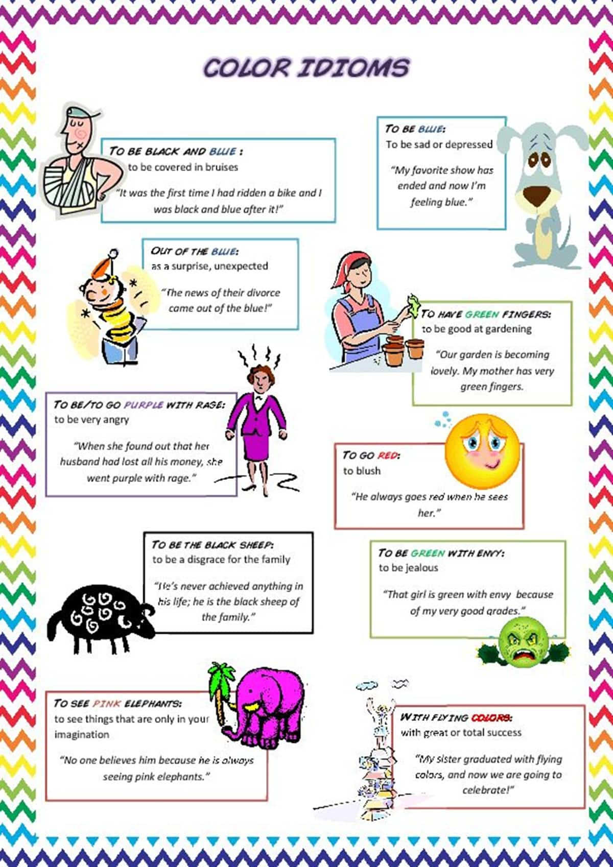 Awesome Color Idioms that will Improve Your English Fluency 14