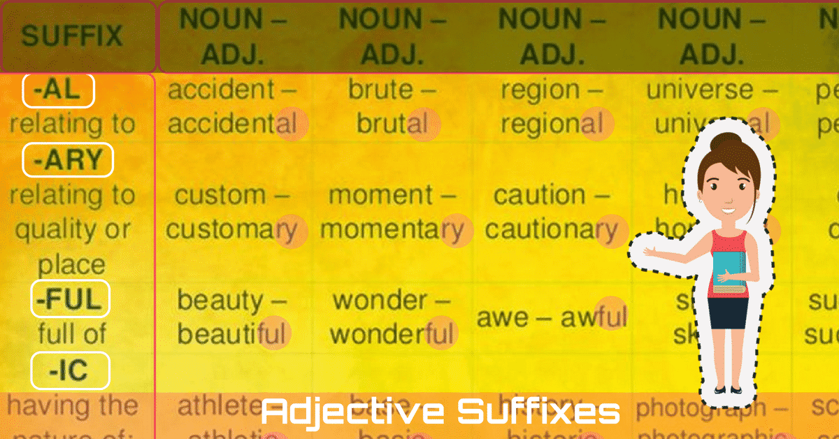 Common Adjective Suffixes in English 8