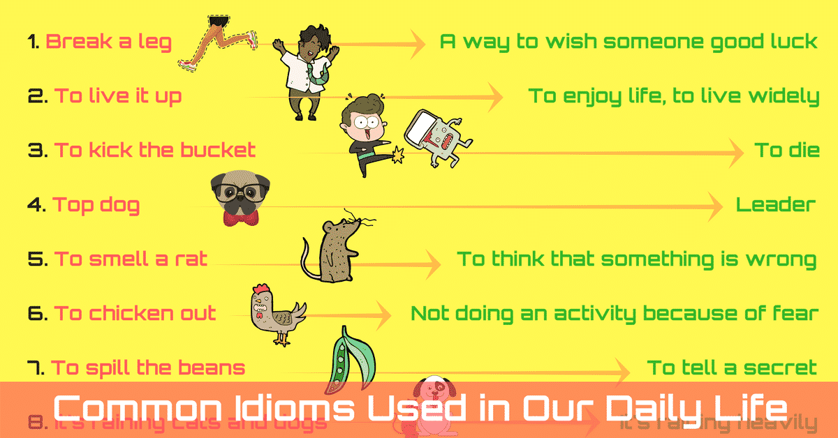 Idioms Used in Daily Life with Their Meaning 5