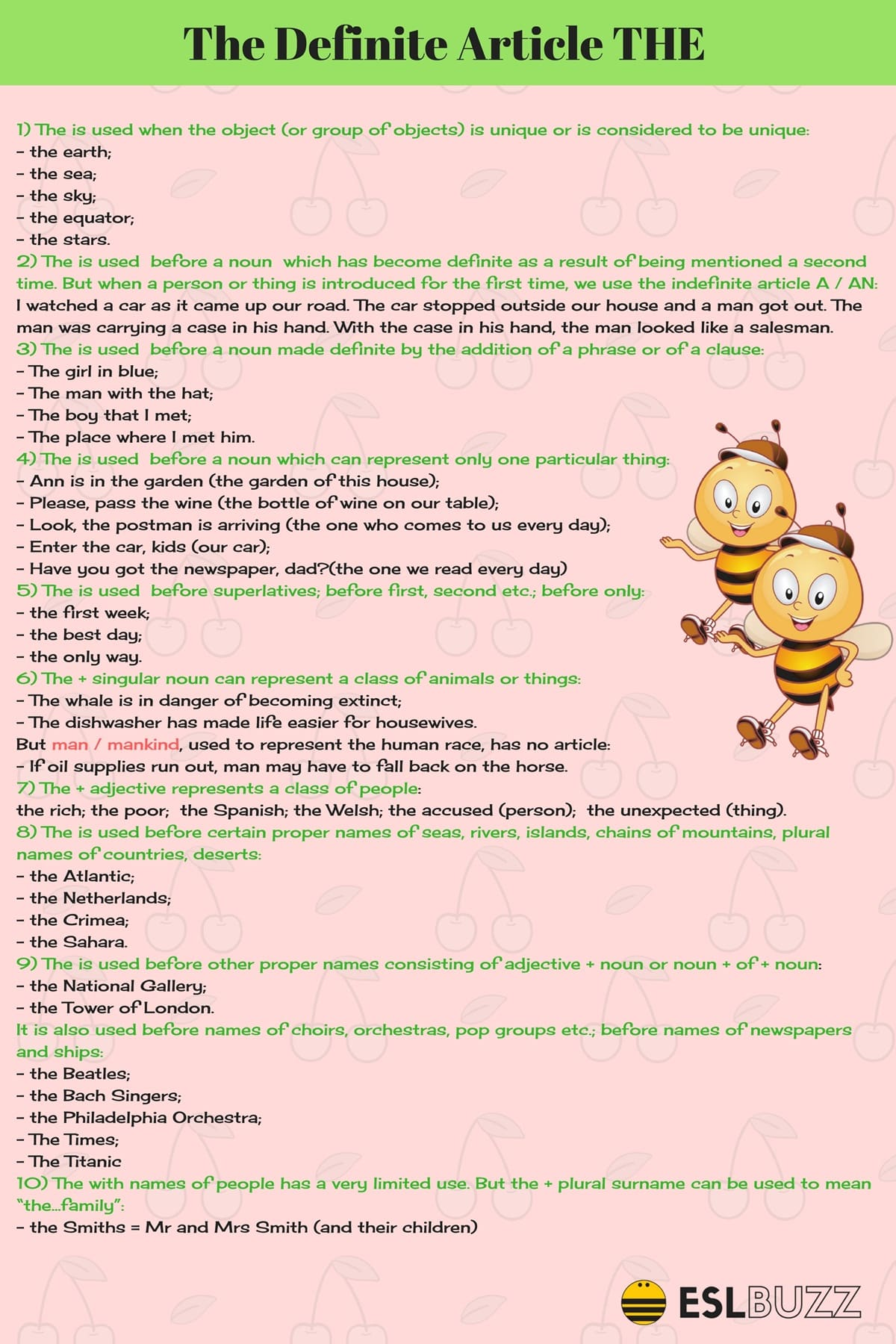 How to Use Article THE in English