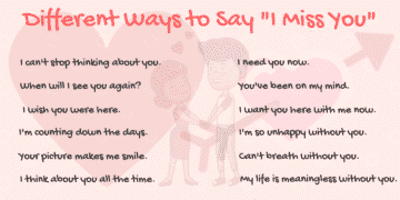 40+ Cool Ways to Say I MISS YOU in English 33