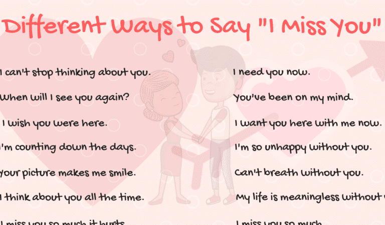 40+ Cool Ways to Say I MISS YOU in English