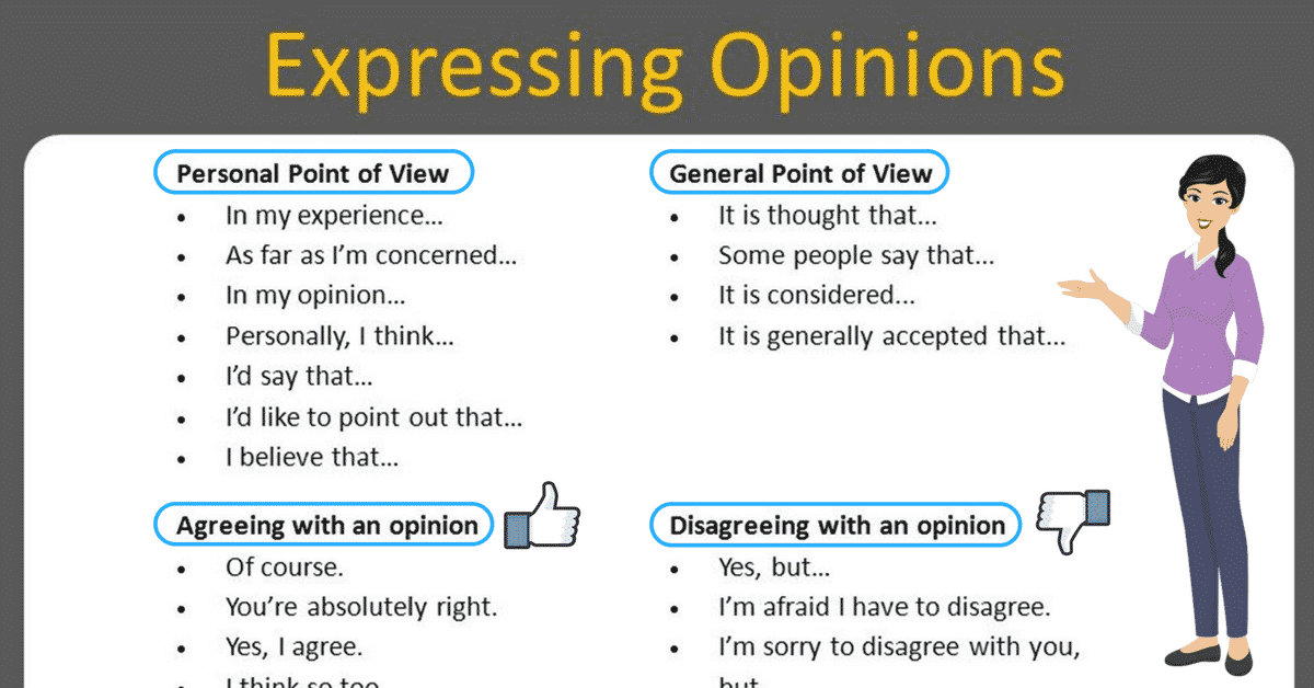 How to Effectively Express Your Opinion in an Argument 1