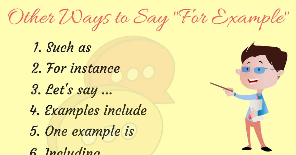 30+ Ways to Say FOR EXAMPLE 1