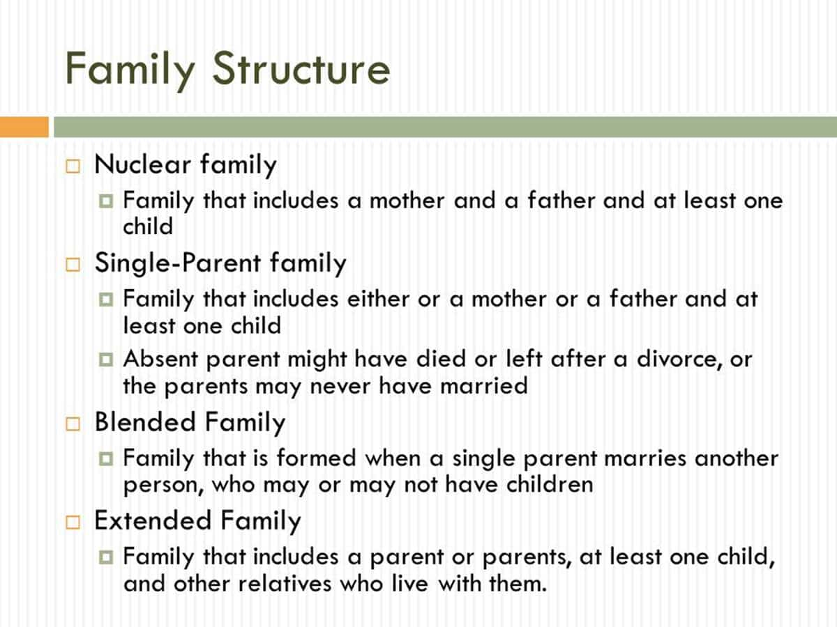 English Vocabulary: Family Members and Different Types of Family 16