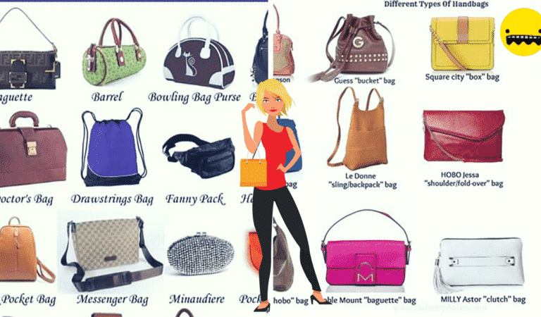 Different Types of Handbags in English
