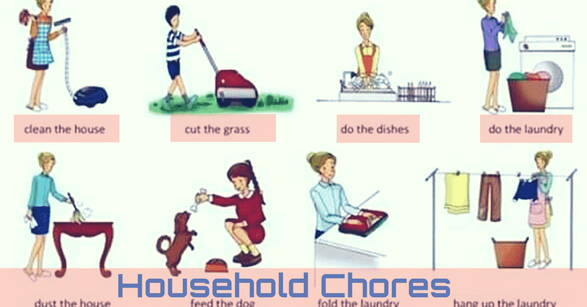 Talking about household chores in English 4