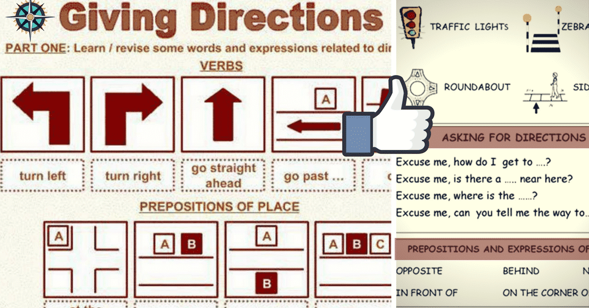 Useful Expressions for Asking and Giving Directions in English 5