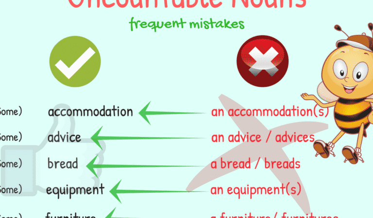 Common Mistakes in the Use of Uncountable Nouns in English