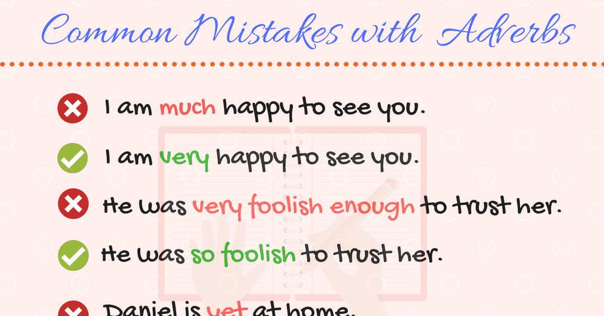 Common Errors in the Use of English Adverbs | Mistakes with Adverbs 5