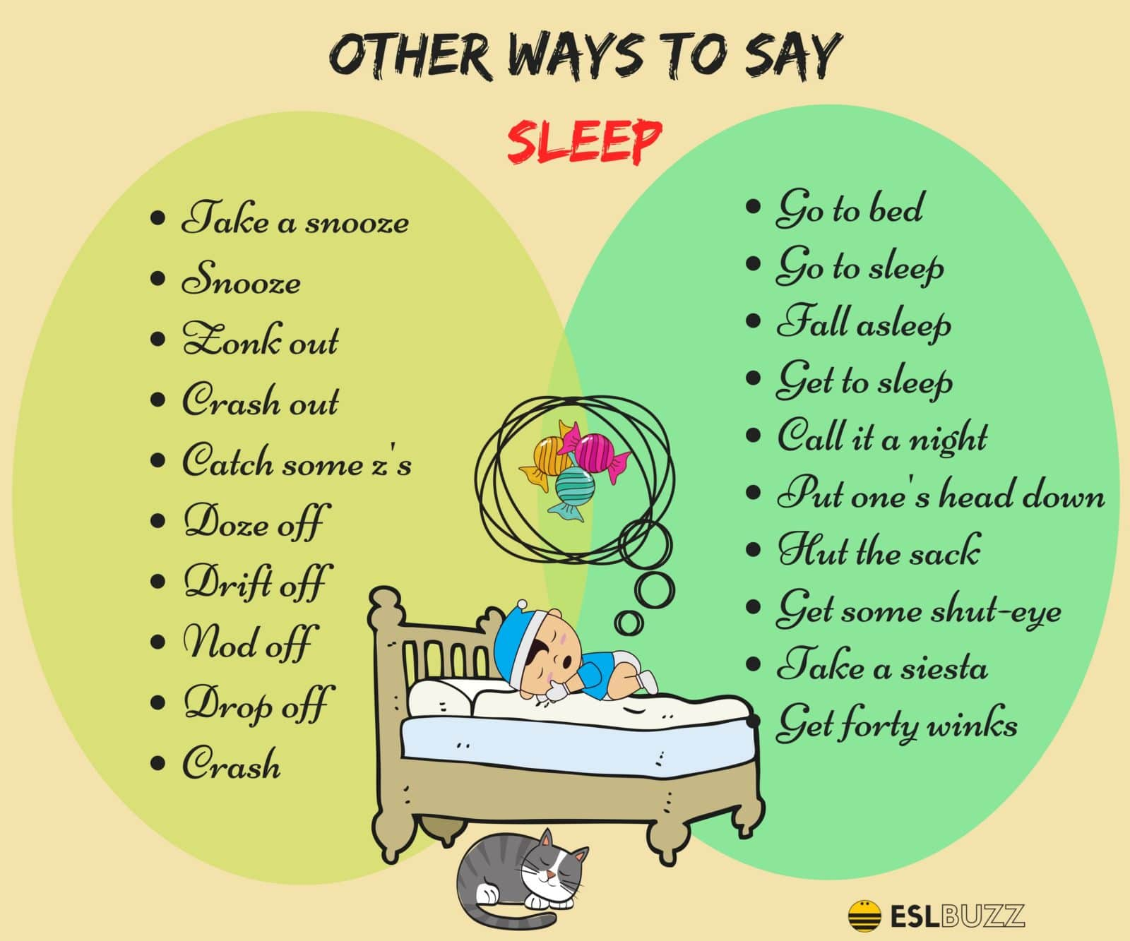 Different Ways to Say I'm Going to Sleep