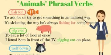 """Animals"" Phrasal Verbs in English (With Meanings & Examples) 4"