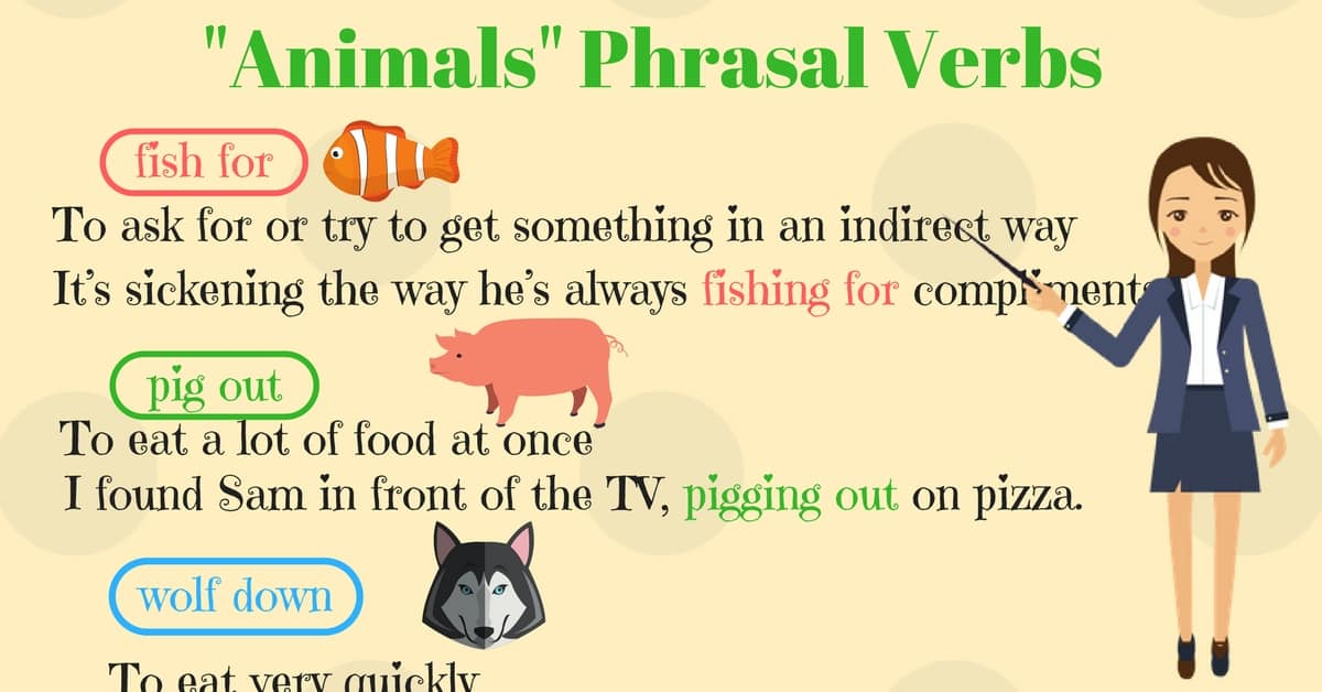 Animals Phrasal Verbs in English (With Meanings & Examples) 5