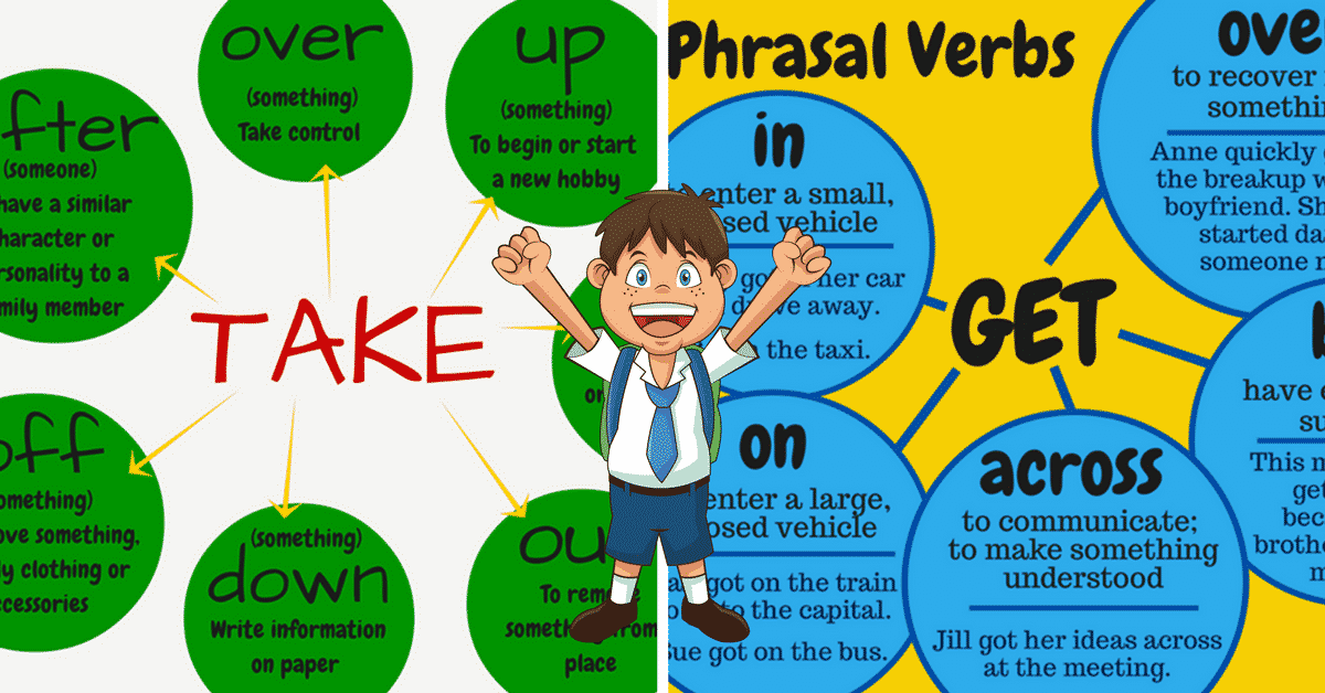 Common Phrasal Verbs with TAKE and GET in English 14