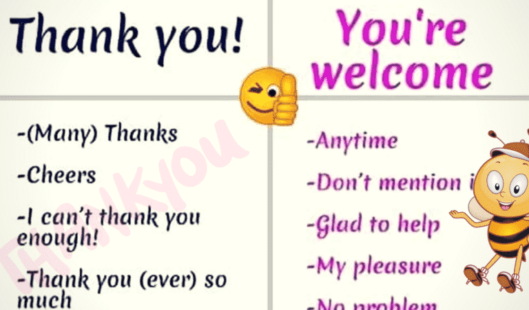 Other Ways to Say Thank You, You're Welcome, I'm Sorry…