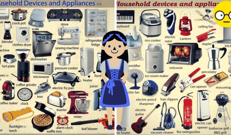 Household Devices and Appliances Vocabulary in English