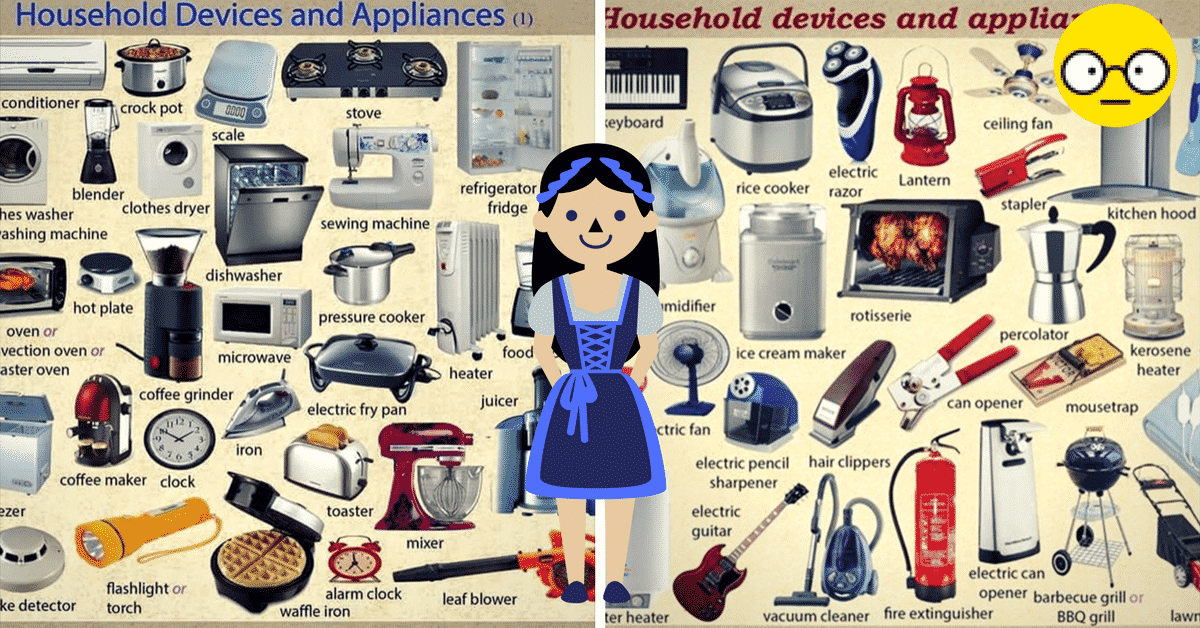 Household Devices and Appliances Vocabulary in English 9