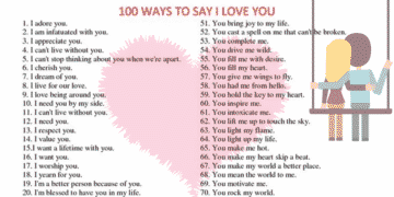 100 Ways To Say I LOVE YOU 24