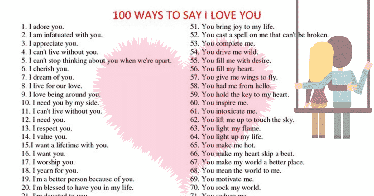 100 Ways To Say I LOVE YOU 2