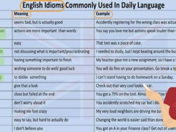 Commonly Used Idioms in English 17