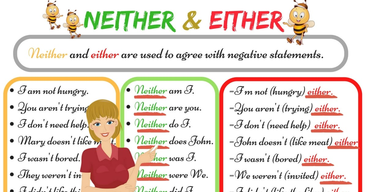 The Difference between NEITHER and EITHER 3