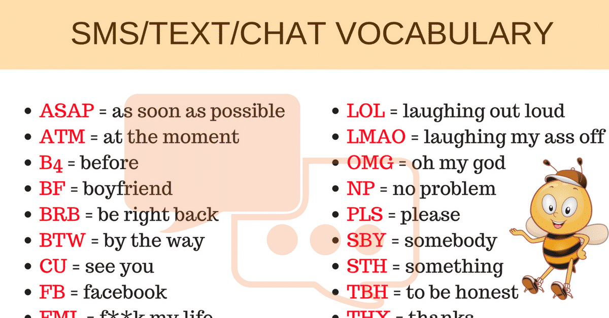 How to Use Texting Abbreviations and Chat Acronyms in English 7