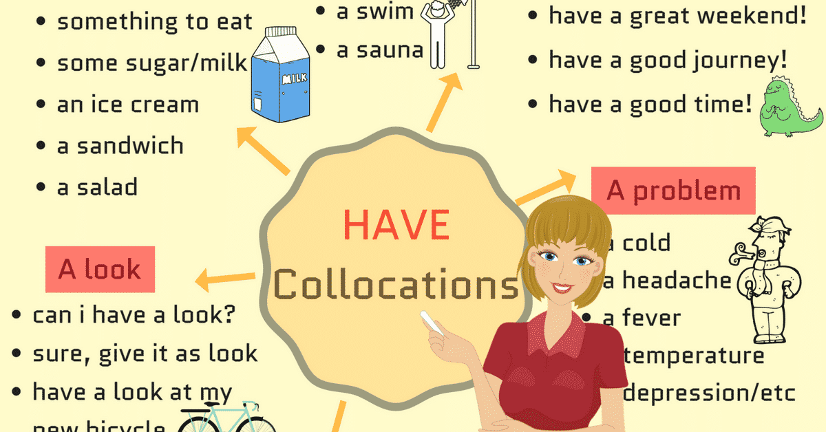 25+ Popular English Collocations with HAVE with Examples 3