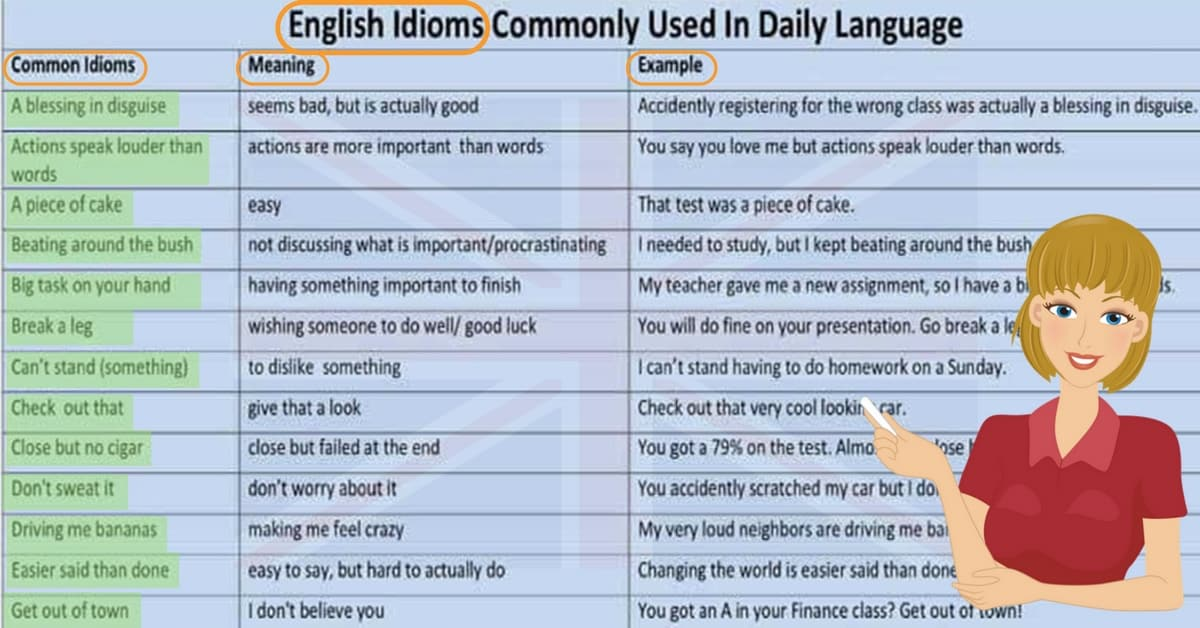 Commonly Used Idioms in English 18