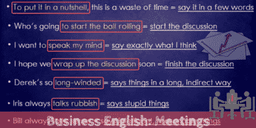 Useful English Phrases for Running A Business Meeting 9