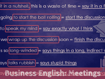 Useful English Phrases for Running A Business Meeting 15