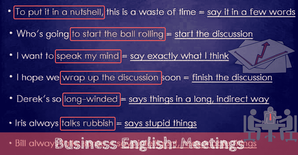 Useful English Phrases for Running A Business Meeting 6