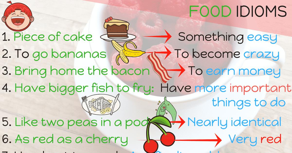 20+ Food Idioms in English