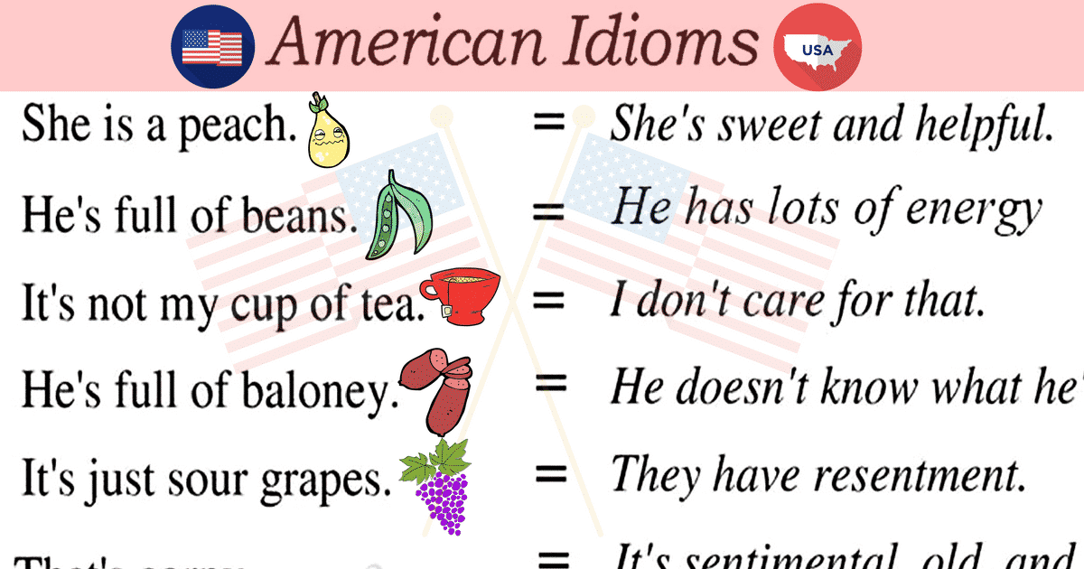 30+ Common American Idioms You Need to Know 12