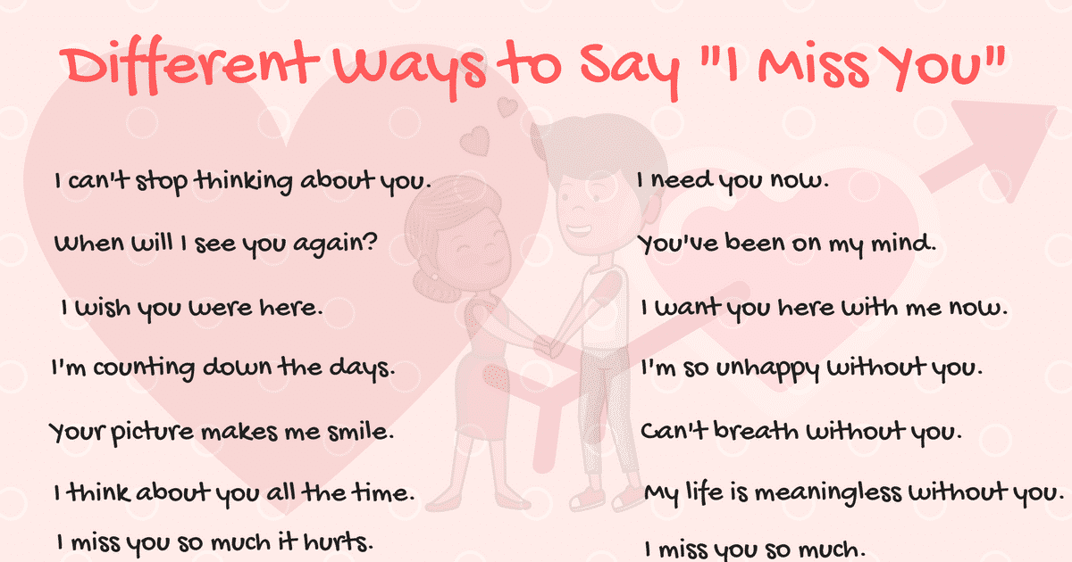 40+ Cool Ways to Say I MISS YOU in English 14