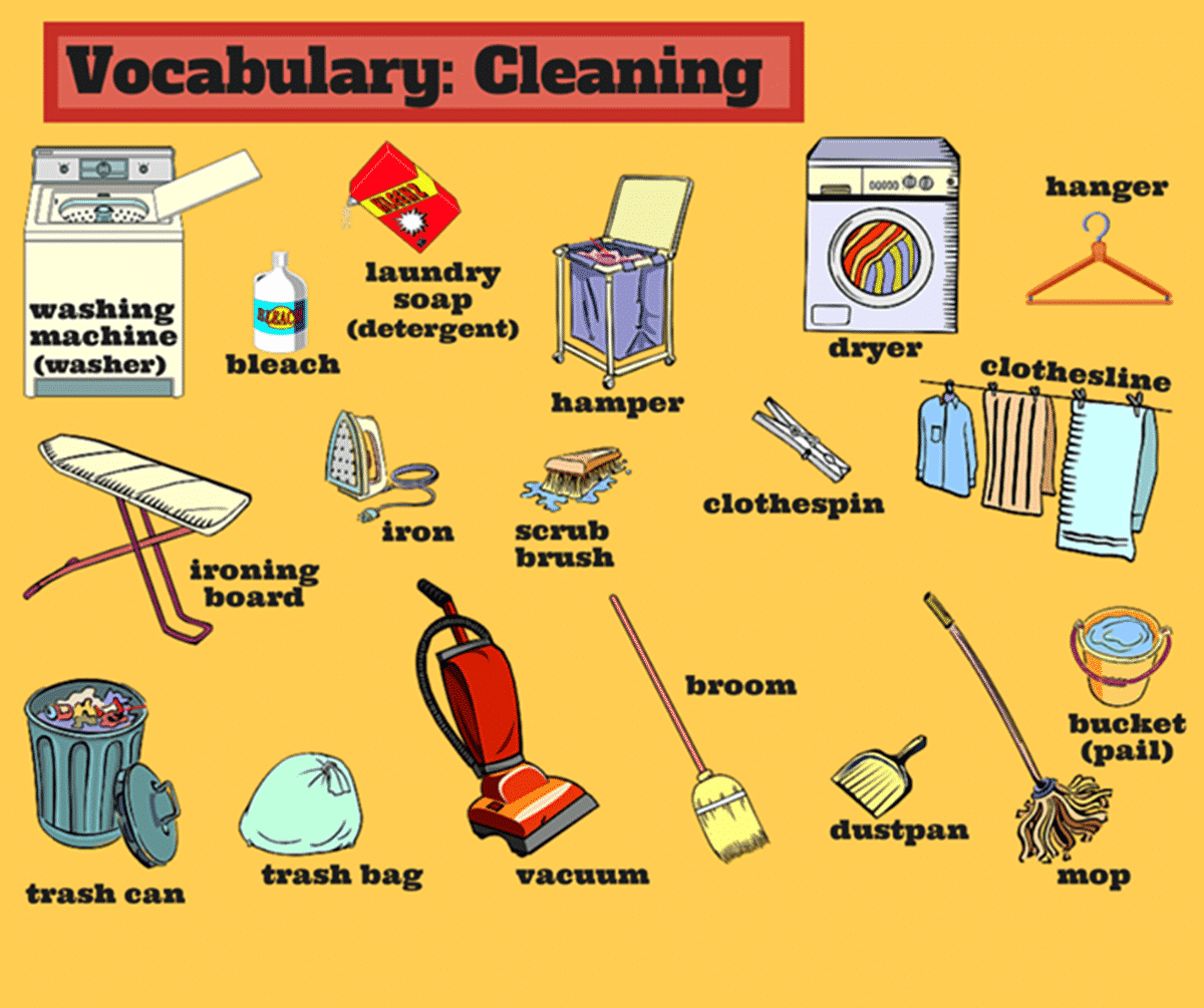 English Vocabulary for House Cleaning
