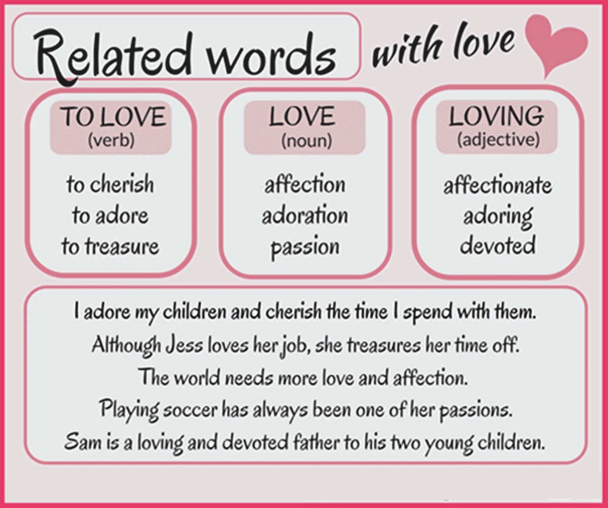 """Other Ways to Say """"Love"""""""