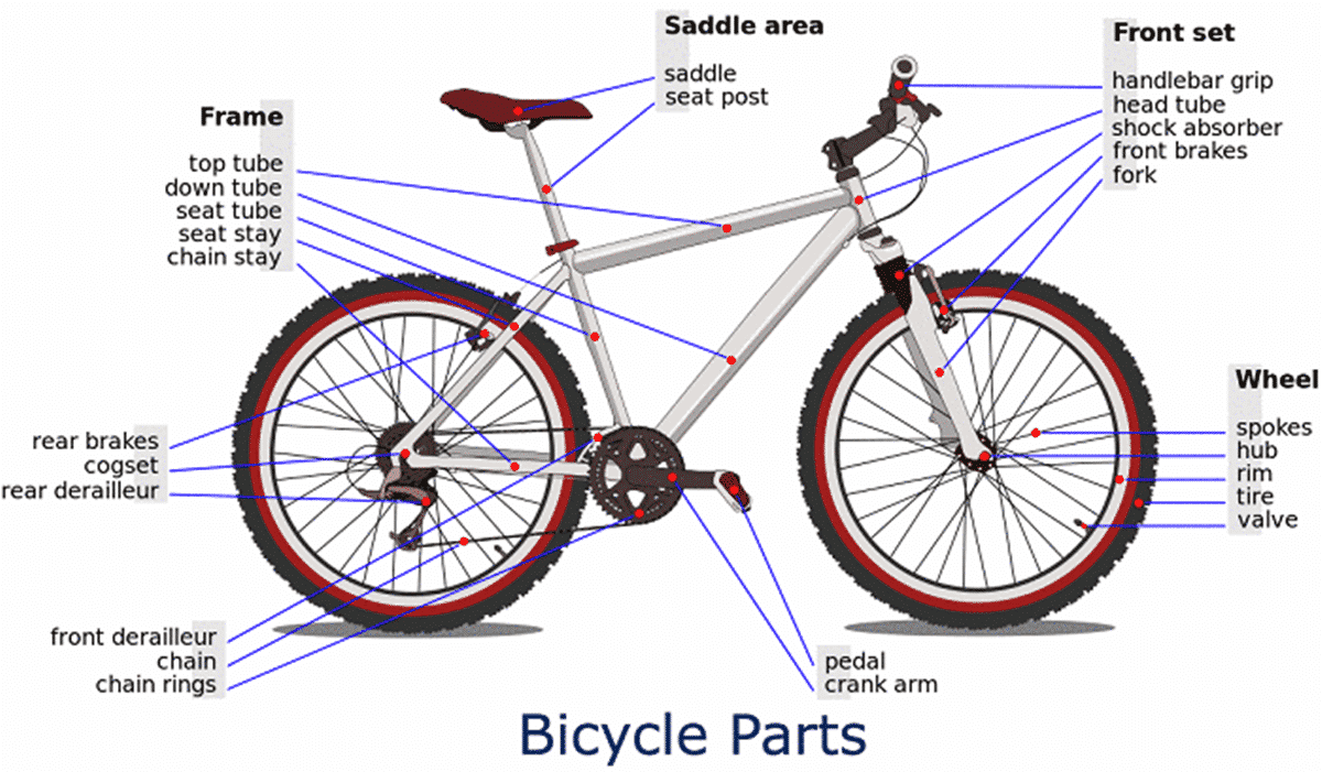 English Vocabulary: Different Parts of a Bicycle