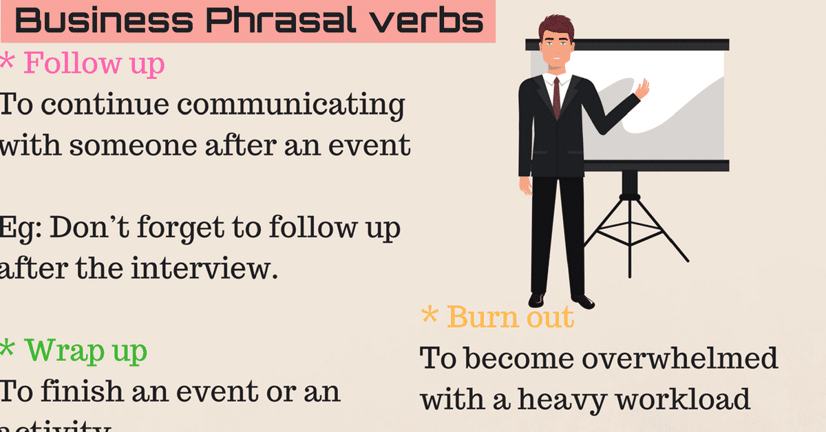 40 Useful Phrasal Verbs for Business and Work in English 12