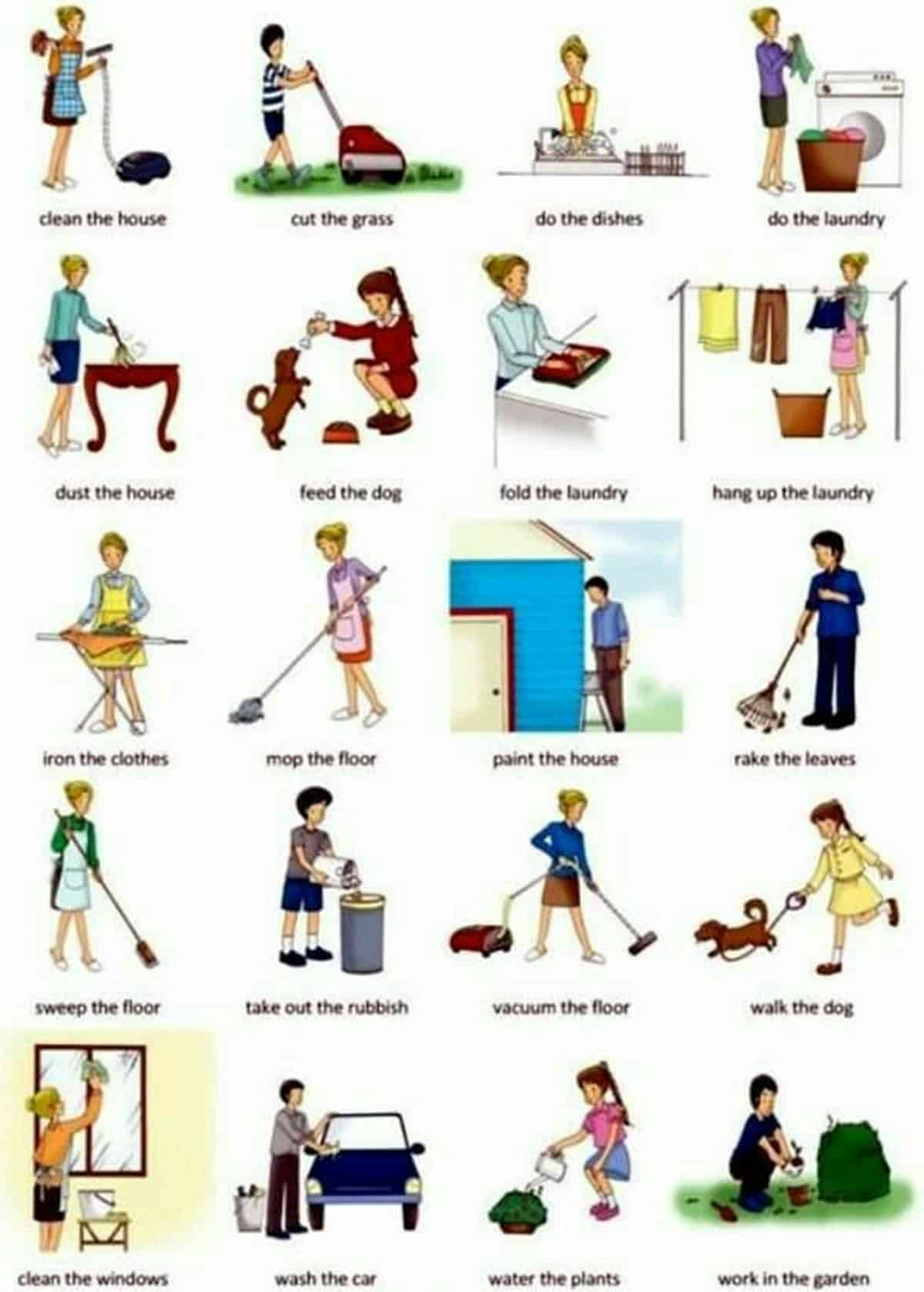 Daily Routines and Household Chores Vocabulary in English 15