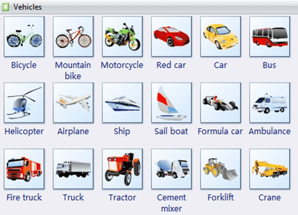 Street Vehicles and Transportation Vocabulary in English 1