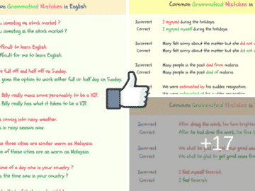 150+ Common Grammatical Errors in English 15