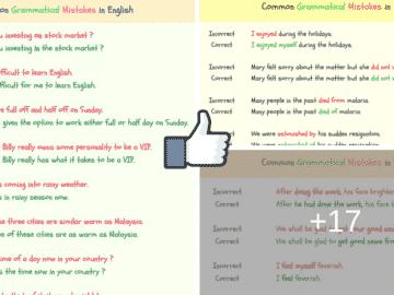 150+ Common Grammatical Errors in English 14