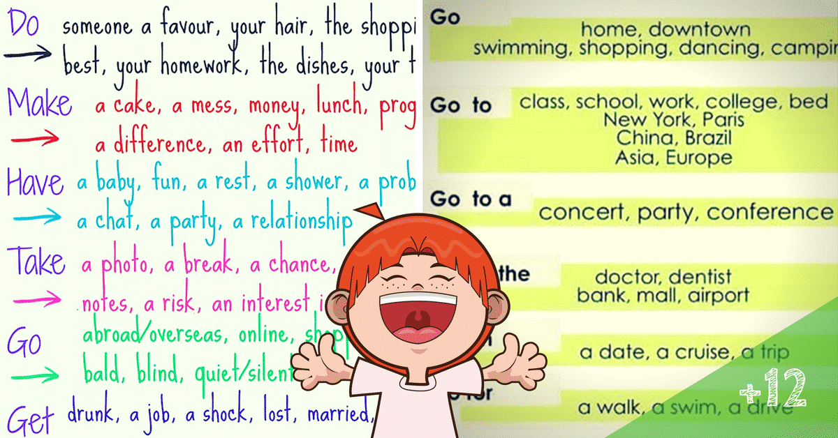 Verb Collocations: List of Useful Verb Collocations in English 8
