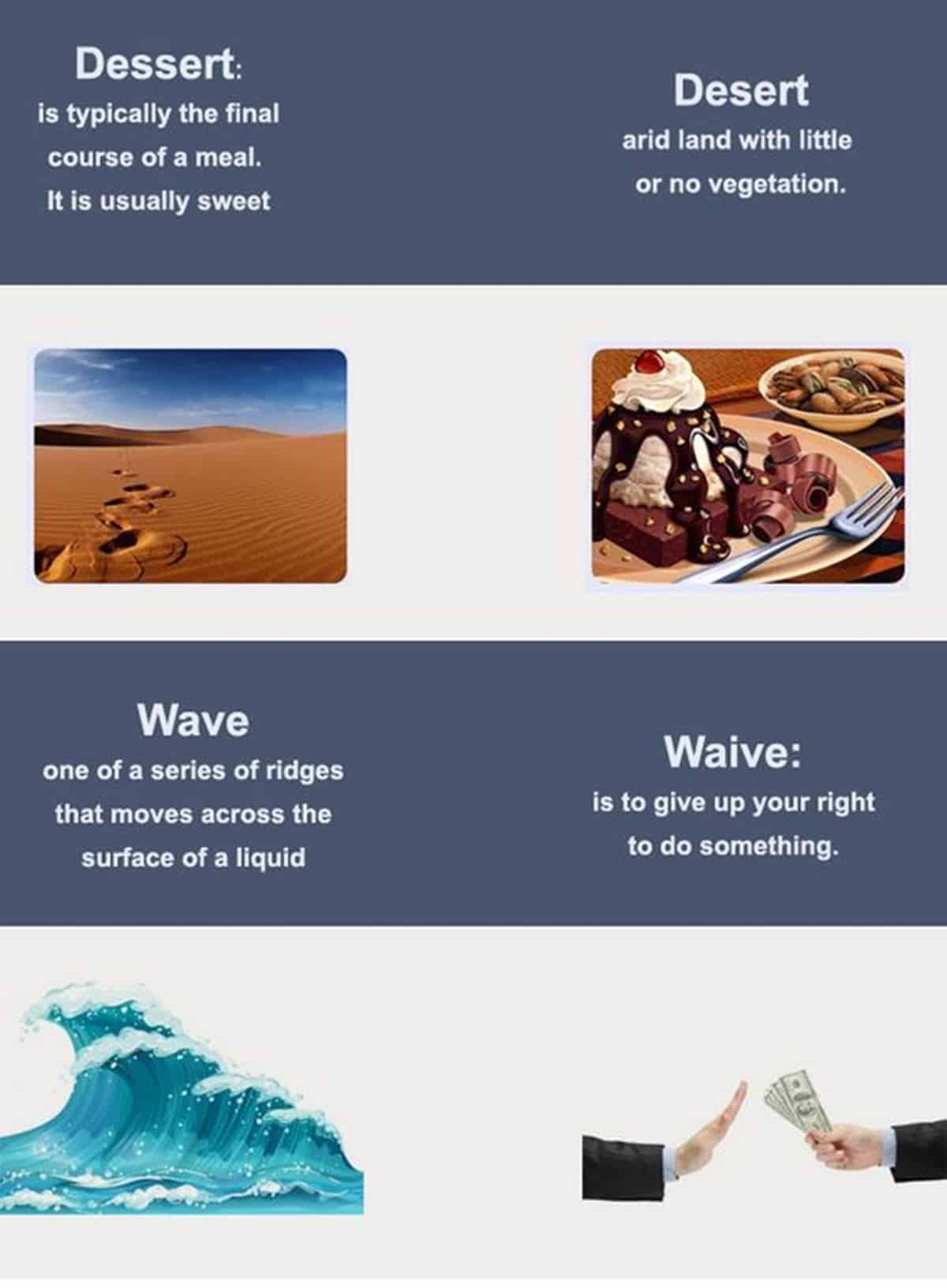 DESSERT - DESERT / WAVE - WAIVE