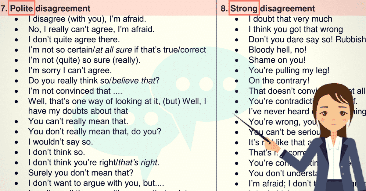 Useful Phrases for Discussion and Debate in English 7