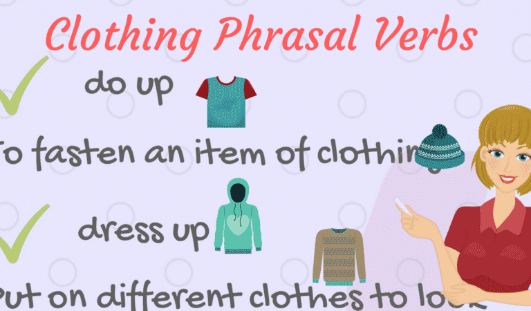 20+ Useful Phrasal Verbs Relating to Clothes