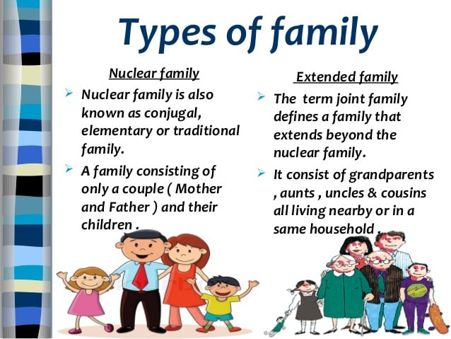 English Vocabulary: Family Members and Different Types of Family 2