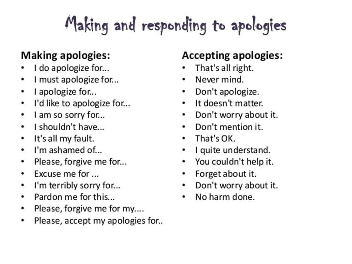 How to Express and Accept an Apology in English